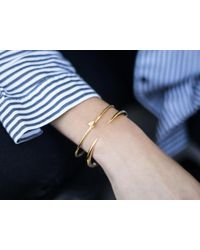 Missoma - Multicolor Folded Heart Cuff - Lyst