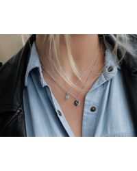 Missoma - Blue Silver December Turquoise Charm Necklace - Lyst