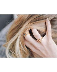 Missoma - Metallic Gold Pave Double Nugget Ring - Lyst