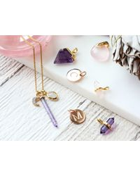 Missoma - Multicolor Silver Amethyst Double Wand Pendant - Lyst