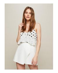 Miss Selfridge White Ivory Structured Skort