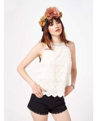 Miss Selfridge - Multicolor Floral Hair Garland - Lyst