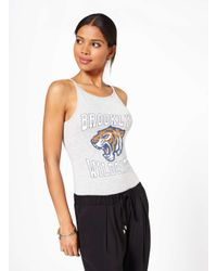 Miss Selfridge - Gray Grey Brooklyn Tigers Body - Lyst