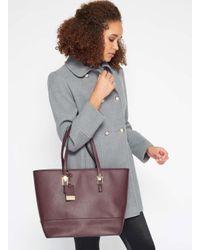 Miss Selfridge - Purple Burgundy Scratchy Tote Bag - Lyst