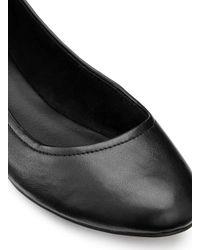Miss Selfridge - Ebony Black Ballet Flats - Lyst