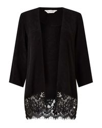 Miss Selfridge - Black Jacquard Kimono - Lyst