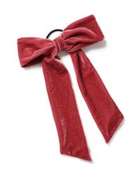 Miss Selfridge - Large Pink Bow - Lyst