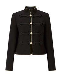 Miss Selfridge - Black Admiral Detailed Military Jacket - Lyst