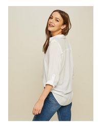 Miss Selfridge - White Voile Shirt - Lyst