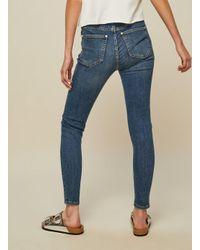 Miss Selfridge - Blue Lizzie High Waist Skinny Mid Wash Jeans - Lyst