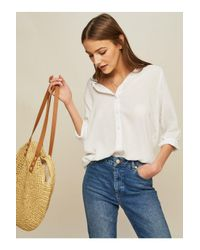 Miss Selfridge - White Voile Shirt - Lyst