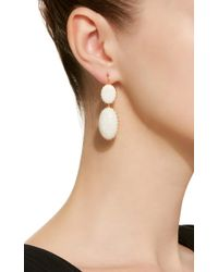 Renee Lewis - White One-of-a-kind Gold Antique Opal Earrings - Lyst