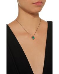 Jack Vartanian - Green 18k White Gold And Black Rhodium Diamond And Emerald Necklace - Lyst