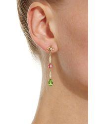Jordan Alexander - Metallic 18k Gold, Diamond, And Tourmaline Earrings - Lyst
