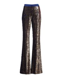Ralph&Russo - Metallic Sequined Classic Trousers - Lyst