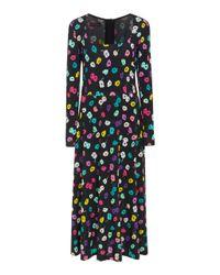 f16b02593dc0 Lyst - Escada Davirr Floral Midi Dress