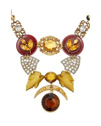 Lulu Frost - Multicolor M'o Exclusive Vintage Disc And Brooch Necklace - Lyst