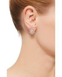 EF Collection - Metallic 14k White Gold Diamond Starburst Stud Earrings - Lyst