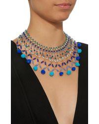Rosantica - Blue Alchimia Gold-tone Brass And Quartz Necklace - Lyst