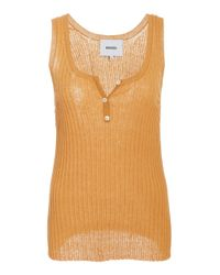 Nanushka - Orange Cephas Cotton Blend Sleeveless Top - Lyst