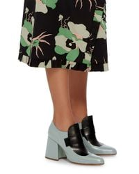Marni - Blue Two-tone Loafer Heels - Lyst