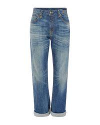 R13 - Blue Catherine High Rise Boyfriend Jeans - Lyst