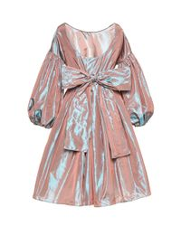 Luisa Beccaria - Blue Iridescent Taffeta Dress - Lyst