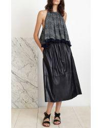 Apiece Apart - Black Santa Clara Printed Silk-crepe Tunic - Lyst