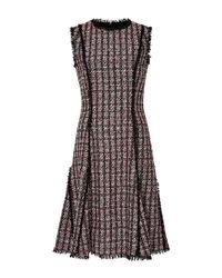 Oscar de la Renta | Black Sleeveless Jewel Neck A Line Dress | Lyst