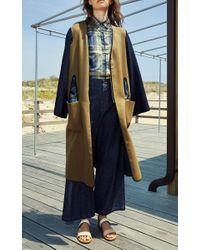 Rosetta Getty - Multicolor Japanese Denim High Rise Wide Legged Jeans - Lyst