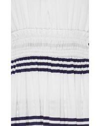 Apiece Apart - Blue Lippard Striped Dress With Tassels - Lyst