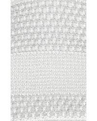 Proenza Schouler - White Open Stitch Dress With Handkerchief Hem - Lyst