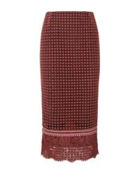 Dorothee Schumacher | Red Playful Structures Lace Pencil Skirt | Lyst