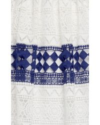 Philosophy Di Lorenzo Serafini - Blue Striped Cotton Macramé Skirt - Lyst
