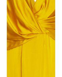 Paule Ka - Yellow V Neck Dress - Lyst
