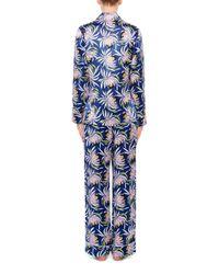 Olivia Von Halle - Multicolor Lila Bardot Silk Printed Shirt And Pants Set - Lyst
