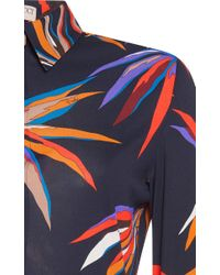 Emilio Pucci - Blue Long Sleeve Button Up Shirt - Lyst