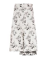 Marni - Black Tropical Jacquard Floral Skirt - Lyst
