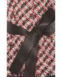 Paule Ka - Black Leather And Tweed Vest - Lyst