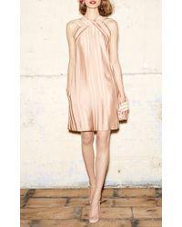Paule Ka - Natural Pleated Dress With Pockets - Lyst