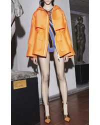 Emilio Pucci - Orange Structured Hooded Jacket - Lyst