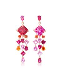 Anabela Chan | Pink M'o Exclusive Ruby Escher Drop Earrings | Lyst