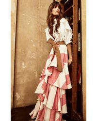 Johanna Ortiz - White Bandelier Cotton Poplin Bodysuit - Lyst