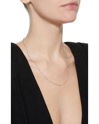 Renee Lewis - 18k White Gold Diamond Necklace - Lyst
