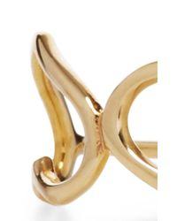 Jordan Askill - Metallic Yellow Gold Triple Heart Ring - Lyst
