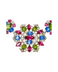 Ben-Amun | Multicolor Silver-tone Crystal Necklace | Lyst