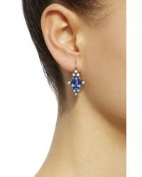 Montse Esteve - Blue 18k Gold, Kyanite And Diamond Earrings - Lyst