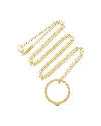 Monica Rich Kosann - Metallic Poesy Never Fear 18k Gold Ruby Necklace - Lyst