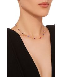 Renee Lewis - Purple 18k Gold Multi-stone Chain Necklace - Lyst