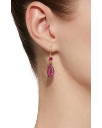 Mallary Marks - Pink Apple&eve 18k Gold Ruby Earrings - Lyst